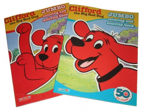 Clifford the Big Red Dog Jumbo Coloring and Activity Books (2 pack) - 1