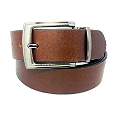 SANSHUL MEN BELT (SA-96 BROWN 30-42 INCH)
