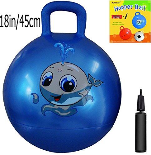space-hopper-ball-blue-18-inch-45cm-diameter-for-ages-3-6-pump-included-hop-ball-kangaroo-bouncer-ho