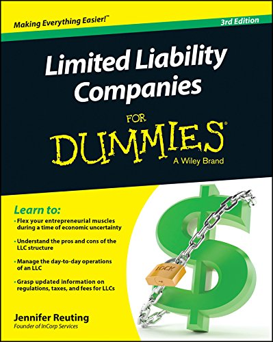 Limited Liability Companies For Dummies (Starting Llc compare prices)