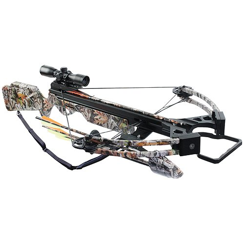 Arrow Precision Inferno Firestorm II Compound Crossbow with Free Rope Cocker, Camouflage