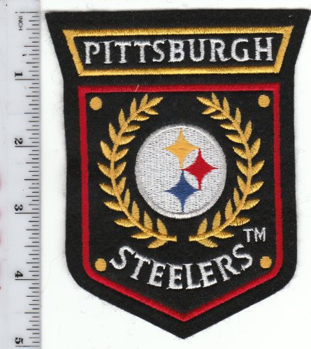 Vintage 1980s Pittsburgh Steelers Crest Shield Logo Patch NFL (sew on) 5 inch at Amazon.com
