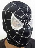 ヒーローマスク スパイダーマン ブラック 黒 フリーサイズ