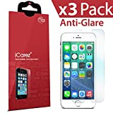 "iCarez® for Apple iPhone 6 4.7 "" [HD Anti Glare] Highest Quality Premium High Definition (HD) Reduce Fingerprint / Matte Anti Scratch Bubble Free No Rainbow Washable Screen Protector **PET Film Made in Japan** Easy Install Product with Lifetime Replacement Warranty [3-Pack] - Retail Packaging 2014"
