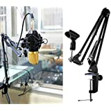 Tonor® Microphone Suspension Boom Scissor Arm Stand