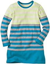 Hanna Andersson Little Girl Striped Out Sweater Dress Size 100 4T Folktale Teal