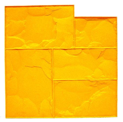 bonway-12-941-24-x-24-inch-ashlar-cut-stone-urethane-floppy-mat-for-decorative-concrete-yellow