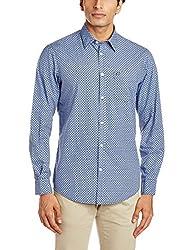 Arrow Sports Men's Casual Shirt  (8907259808673_ASRS3035_42_Medium Blue)