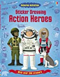 Megan Cullis Sticker Dressing Action Heroes (Usborne Sticker Dressing)