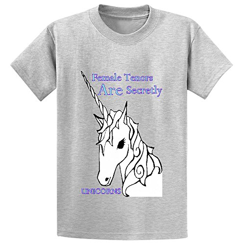 Female Tenors Are Secretly Unicorns Girls Crew Neck Personalized Tees Grey