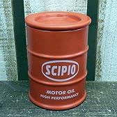 ドラム缶型ふた付カップ 赤