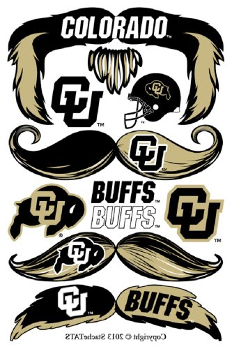 StacheTATS Colorado Temporary Mustache Tattoos - 1