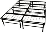 Epic Furnishings Dura Bed Heavy Duty Black Steel Platform Folding Bed Frame, Queen