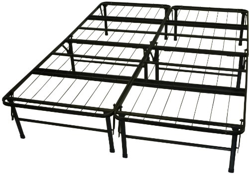 Find Cheap Epic Furnishings Dura Bed Heavy Duty Black Steel Platform Folding Bed Frame, Queen