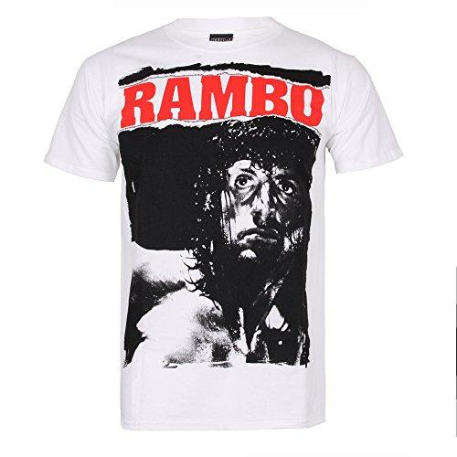 Rambo - Rambo Stare, t-shirt Uomo, Bianco, Large