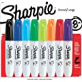 Sharpie 38250PP Chisel Tip Permanent Marker, Assorted Colors, 8-Pack