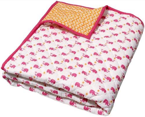Masala Baby Happy Elephant Moksha Quilt- Pink - 1