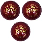 KDM Sports Leather Ball, Pack Of 3 (Red) - B01GQPC0A0