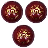 KDM Sports Leather Ball, Pack of 3 (Red)