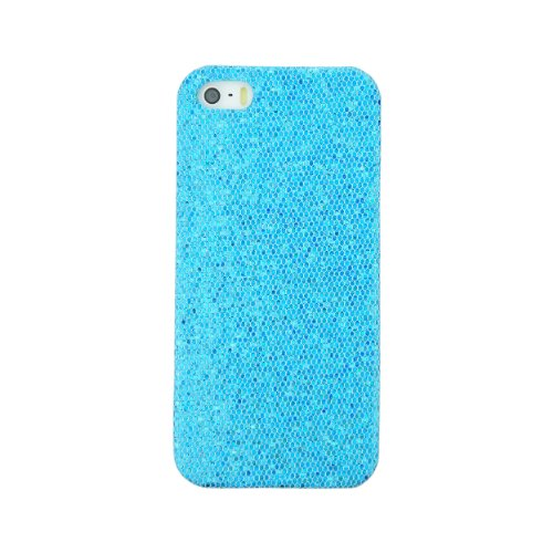 Ipremium Case® Glitter Series - Fully Covered Sparkling Glitters Iphone 5 / Iphone 5S Case - Bling Bling Rhinestones - Perfect Gift - At&T, Verizon, Sprint, T-Mobile (Package Includes Screen Protector) (Blue)