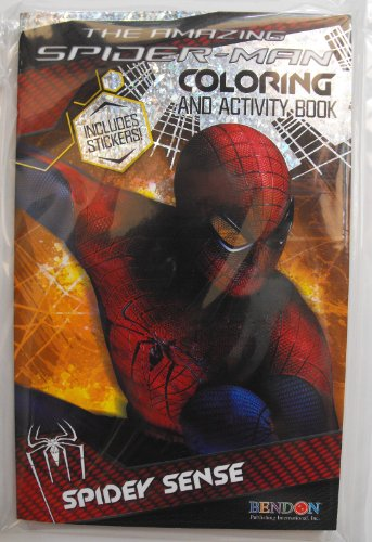 Marvel The Amazing Spiderman 160 Page Digest Coloring And Activity Book With Stickers. Heat Sealed In Copyrighted Labeled Sleeve. Made In The Usa Bendon Publishing Childrens Books.