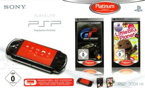 PlayStation Portable - PSP Konsole Slim & Lite 3004, black + Gran Turismo und Little Big Planet