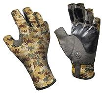 Buff Pro Series Angler Gloves II Pixels Desert M/L