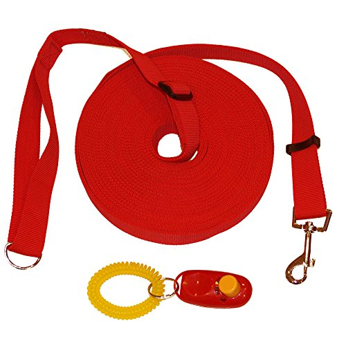 dog-training-lead-and-clicker-large-15m-50ft-long-line-for-pet-and-puppy-recall-obedience-training-w