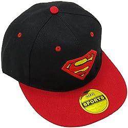 Masti Station Hip Hop Snapback Superman Cap (Black and Red)