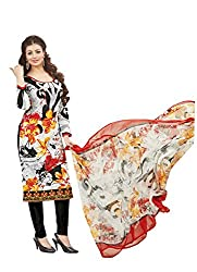 Adorn Mania Multi Cambric Print CAMBRIC PRINT WITH EMBROIDERY salwar Suits Dress Material