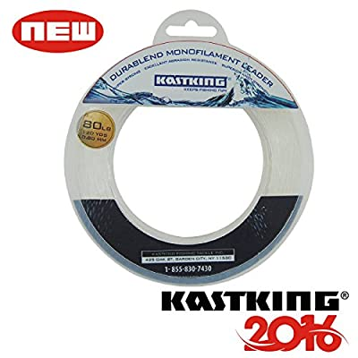 KastKing DuraBlend Monofilament Leader Line - Premium Saltwater Mono Leader Materials - Big Game Spool Size 120Yds/110M - Great Substitute for Fluorocarbon Leader Line - 2015 ICAST Award Winning Brand [2016 New Release Sale] by Eposeidon