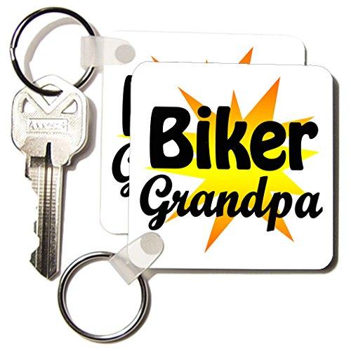 Kc_193298_1 Evadane - Funny Quotes - Biker Grandpa. Fireball. - Key Chains - Set Of 2 Key Chains