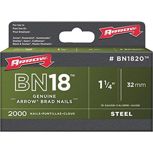 Arrow Fastener Bn1820 Genuine 1-1/4-Inch, 18 Gauge Brads, 2,000-Pack