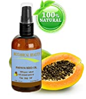"PAPAYA SEED OIL. 100% Pure / Natural / Undiluted /Refined Cold Pressed Carrier oil. 2 Fl.oz.- 60 ml. For Skin, Hair and Lip Care. ""One of the richest natural sources of vitamin A & C and a remarkable stable source of omega 6 & 9 and natural fruit enzymes-"