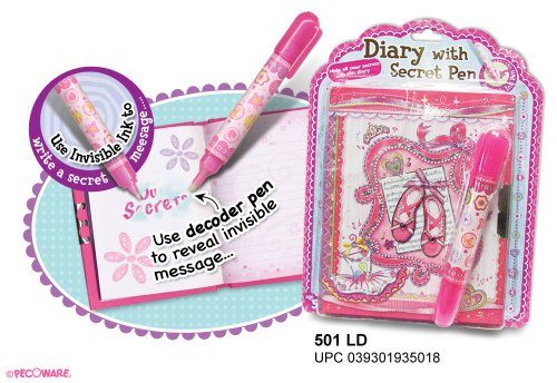 Pecoware Mini Diary with Invisible Ink Pen - 1