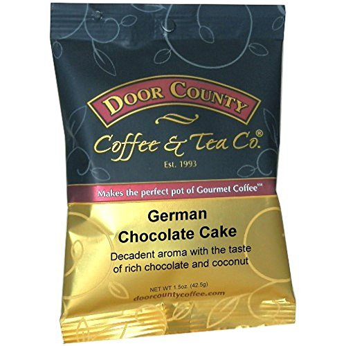 Door County Coffee 1.5oz Full-Pot Bags, Ground (German Chocolate Cake, 1 Full-Pot Pack) (German Chocolate Cake Kcup compare prices)