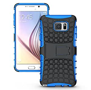 Galaxy S7 Plus Case, OEAGO Samsung Galaxy S7+ Cover Accessories - Tough Rugged Dual Layer Protective Case with Kickstand for Samsung Galaxy S7 Plus - Blue