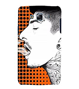 Man Smoking Art 3D Hard Polycarbonate Designer Back Case Cover for Samsung Galaxy J7 (2015) :: Samsung Galaxy J7 J700F (Old Version)