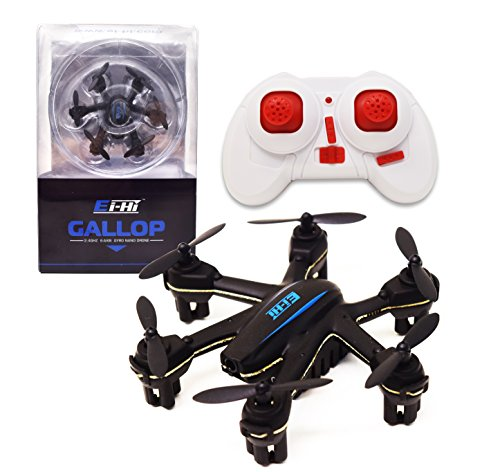 Ei-Hi® S333 Mini Gallop Drone - The World's Smallest Hexcopter with 4CH 2.4GHz 6-Axis Gyro LED Lights RC Remote Control...