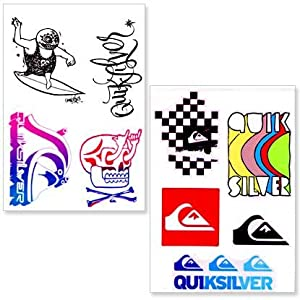 Quiksilver Sticker Pack - 9 Stickers: Amazon.co.uk: Sports ...