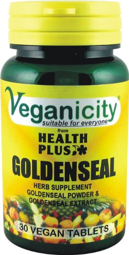 Veganicity Goldenseal : Digestive health plant supplement : 30 tablets
