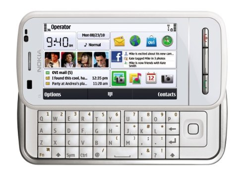 Nokia C6 Unlocked GSM Phone with Easy E-mail Setup, Side-Sliding Touchscreen, QWERTY, 5 MP Camera, and Free Ovi Maps Navigation (White)