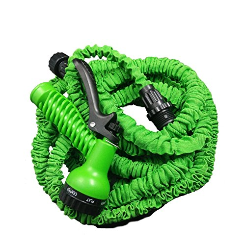 X-Lee-Expandable-Garden-Magic-Hose-and-7-Function-Spray-Nozzle-and-Shut-off-Valve-Lightweight-25FT