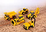 Toy State CAT Caterpillar Construction Toys Mini Machine set of 5, Dump Truck, Bulldozer, Wheel Loader, Backhoe and Road Compactor- Indivualy Packaged Free-Wheeling Vehicle Sand Box Toy Children Imagination Fun