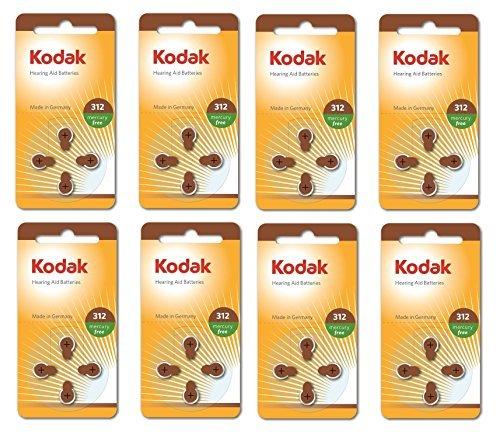32 Lot Kodak Ouïe Soins Taille De La Batterie 312 (PR41, K312ZA) 1.45V Exp 03/2017