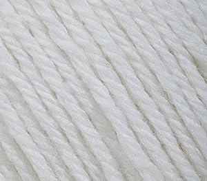 5 PACK - Gazzal Baby Wool 1.76 Oz (50g)/218 Yards (200m) Fine Baby Yarn, 40% Lana Merino, 20% Cashmere Type Polyamide; (White - 801) (Color: White - 801, Tamaño: 5 Pack)
