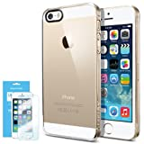 Spigen iPhone 5S Case Slim [Ultra Fit] [Crystal Clear] *VALUE PACK* *JAPANESE BASE PET FILM* Premium Clear Screen Protector + Premium Clear Hard Case - ECO-Friendly Packaging - Slim Case for iPhone 5S / 5 - Crystal Clear (SGP10608)