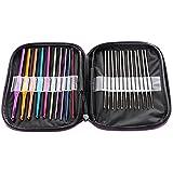 Ostart 22pcs Mixed Aluminum Handle Crochet Hook Knitting Knit Needle Weave Yarn Set