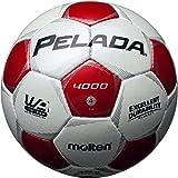 molten(モルテン) ペレーダ4000 [ Pelada4000 ] EXCELLENT DURABILITY 4号球 白+赤 F4P4000-WR