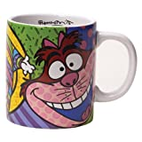 Disney by International Artist Romero Britto for Enesco Cheshire Cat  Mug 4.25 IN